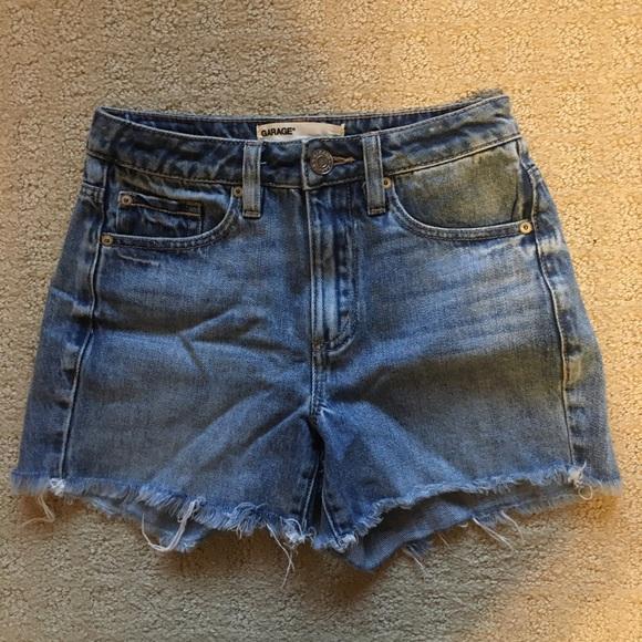 Garage high waisted mom shorts